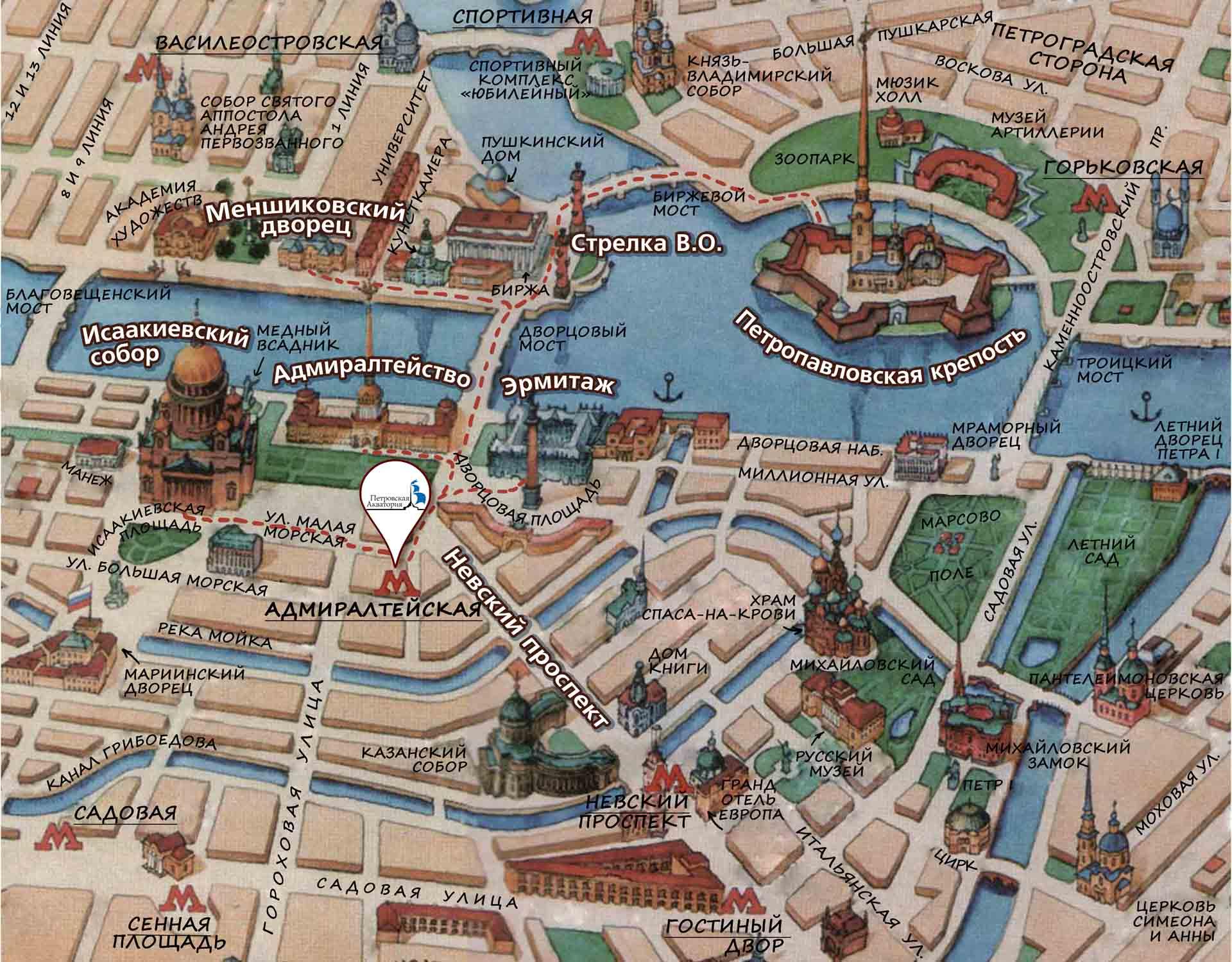Как сделать карту санкт-петербурга 59